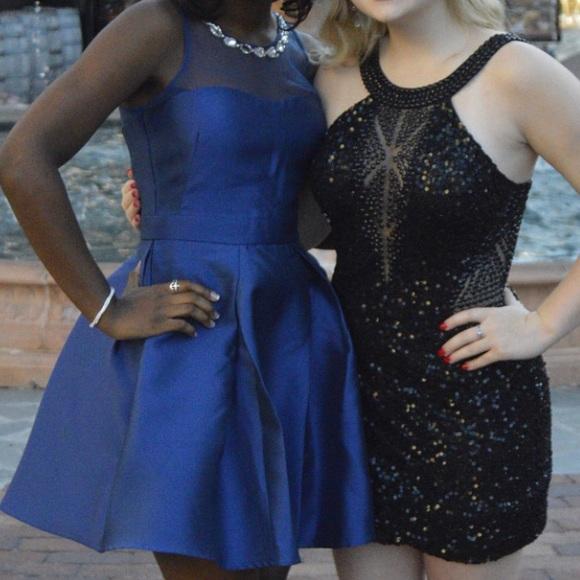 PromGirl Dresses & Skirts - Embellished Satin Homecoming Dress